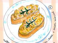 納豆トースト【イラスト】