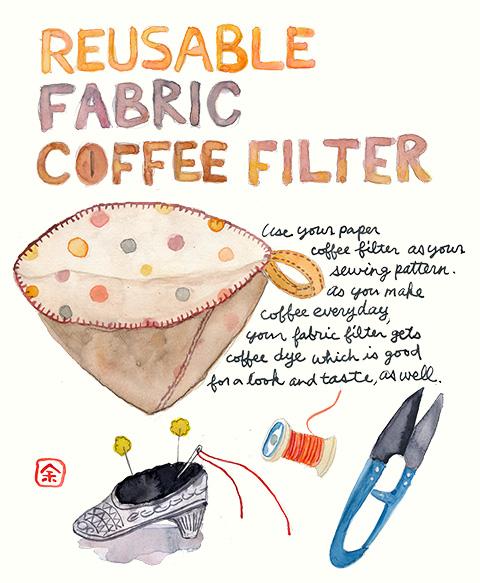 使い捨てないコーヒーフィルターの作り方