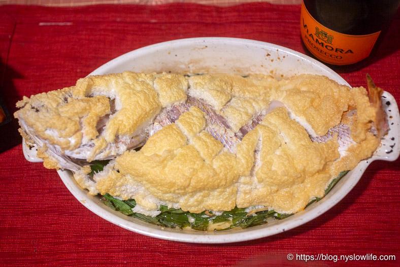 おせち料理:鯛の塩釜焼き風