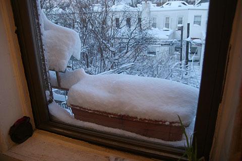 雪てんこもりプランター