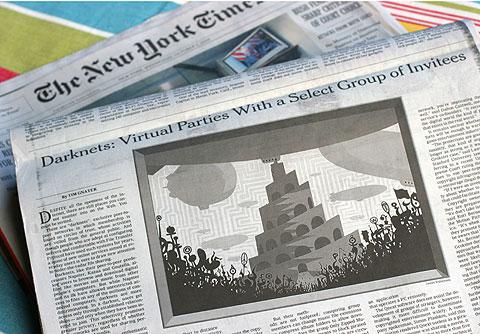 ニューヨークタイムズにイラスト掲載