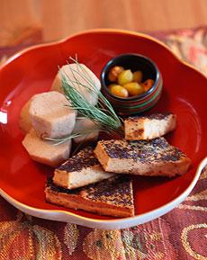 鶏松風焼き、サトイモ白煮