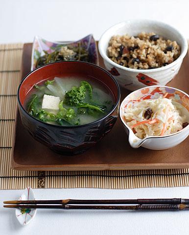 手作り味噌汁の和風ランチ定食