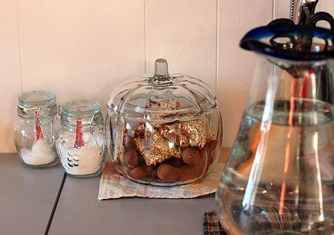 アンカーホッキンズのガラス製かぼちゃクッキージャー