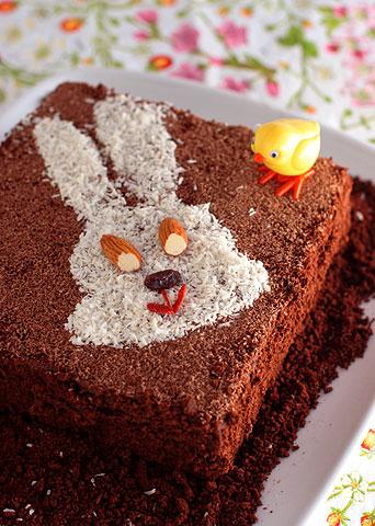 イースターうさぎケーキ