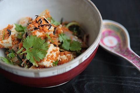 トーフとヒジキの炒め物タイ&インドネシア風