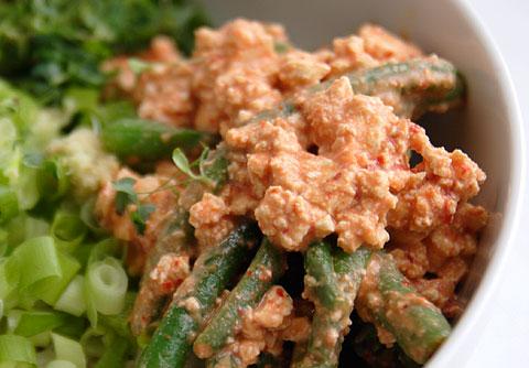 キムチ豆腐白和え