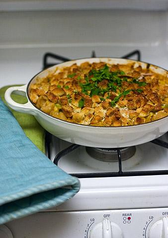 ターキー丸焼き残り物料理:ターキー&ビーンズ・ココナッツカレーのカセロール