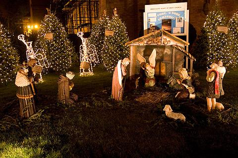 クリスマス・デコレーション散歩:キリスト誕生