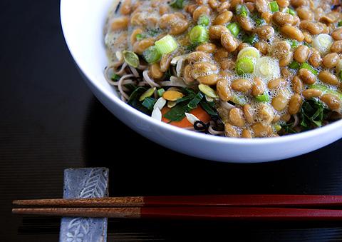 納豆かけ蕎麦