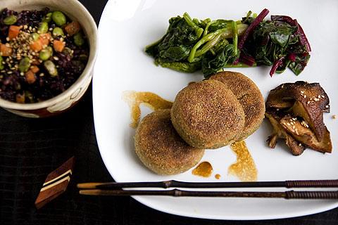 鮭缶と豆腐のお焼き