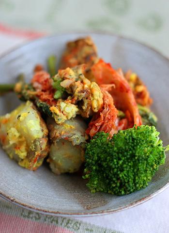 料理レシピ:キムチポテト