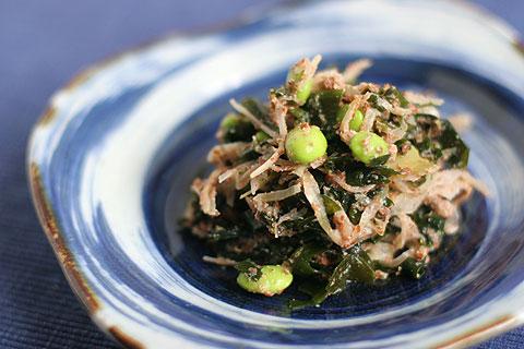ワカメと枝豆のザウアークラウト・サラダ