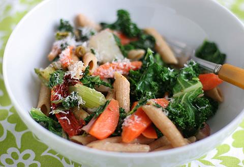 野菜たっぷり簡単パスタ