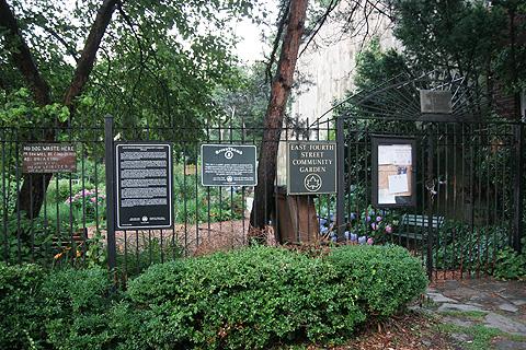 ニューヨークのコミュニティ・ガーデンの門