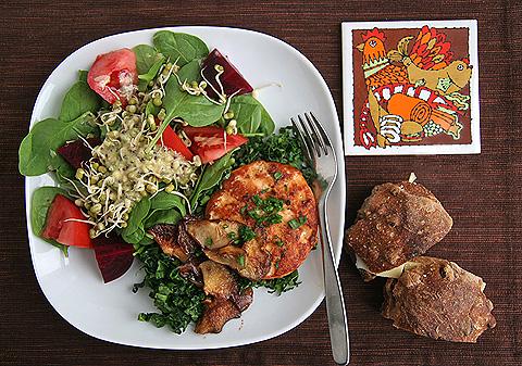 野菜たっぷり鮭ハンバーグおうちランチセット