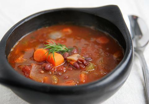 あずきトマトスープ