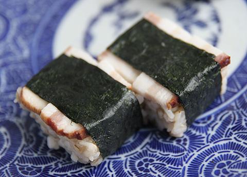 生ベーコンの押し寿司