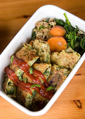 ズッキーニ・フリタータと温野菜