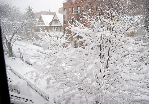 ニューヨーク雪景色