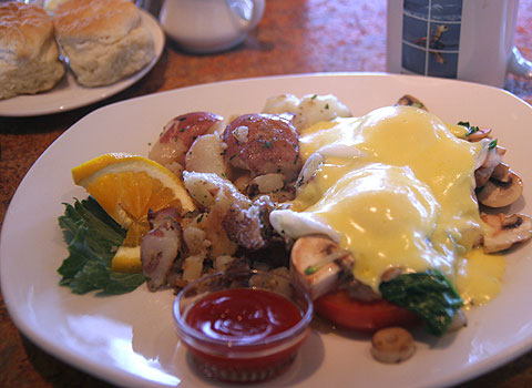 カリフォルニア、ホテルの朝食