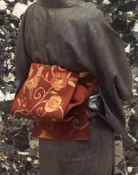 着物手織り紬帯