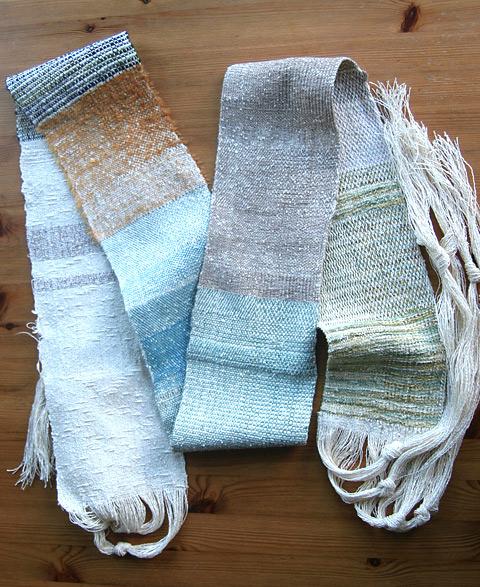 初手織り作品