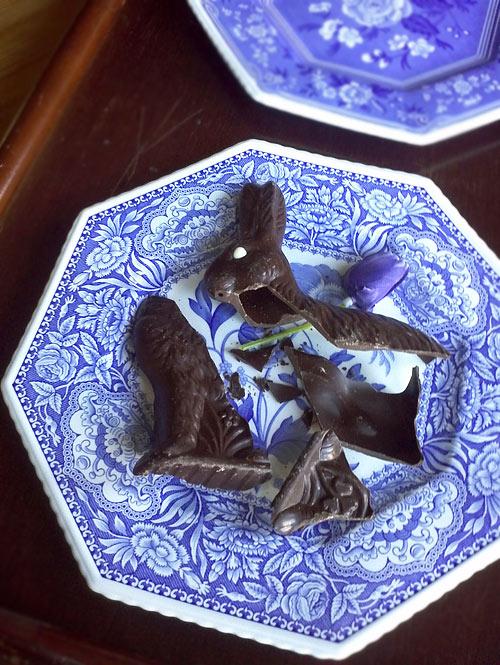 ジャック・トレス・イースターバニー・チョコレートとSpodeのお皿