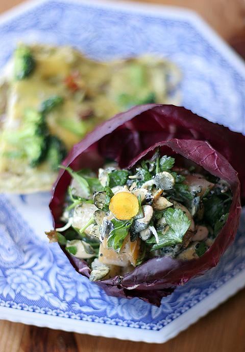 ラディッキオ・カップの温野菜サラダ