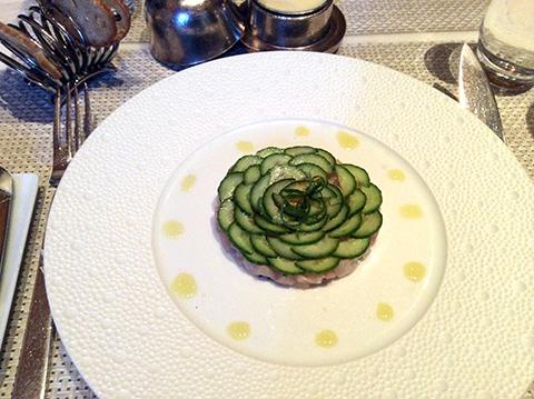 前菜ハマチ刺身 - Le Bernardin ニューヨーク4つ星フレンチレストラン