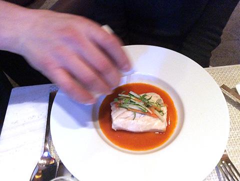 メイン料理ストライプバス - Le Bernardin ニューヨーク4つ星フレンチレストラン
