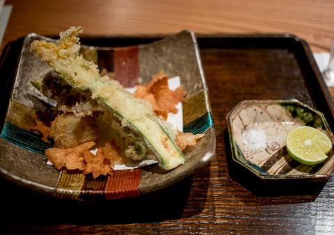 初秋の天ぷら