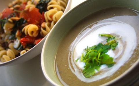 ブロッコリーの茎スープ
