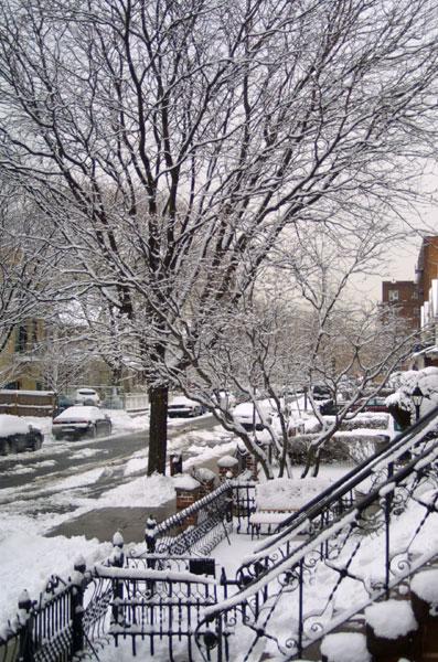 3月雪のニューヨーク