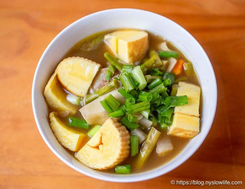 炒り鶏と伊達巻野菜スープ