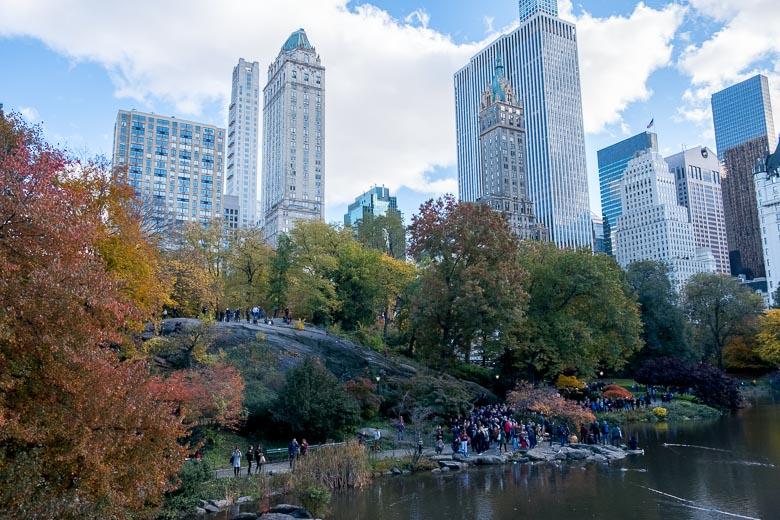ニューヨークのスカイラインを背景にしたセントラルパーク