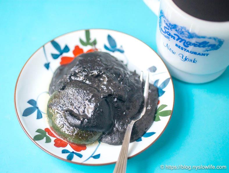 よもぎ団子のバター焼き+黒ごまココナッツミルクだれ【砂糖不使用】